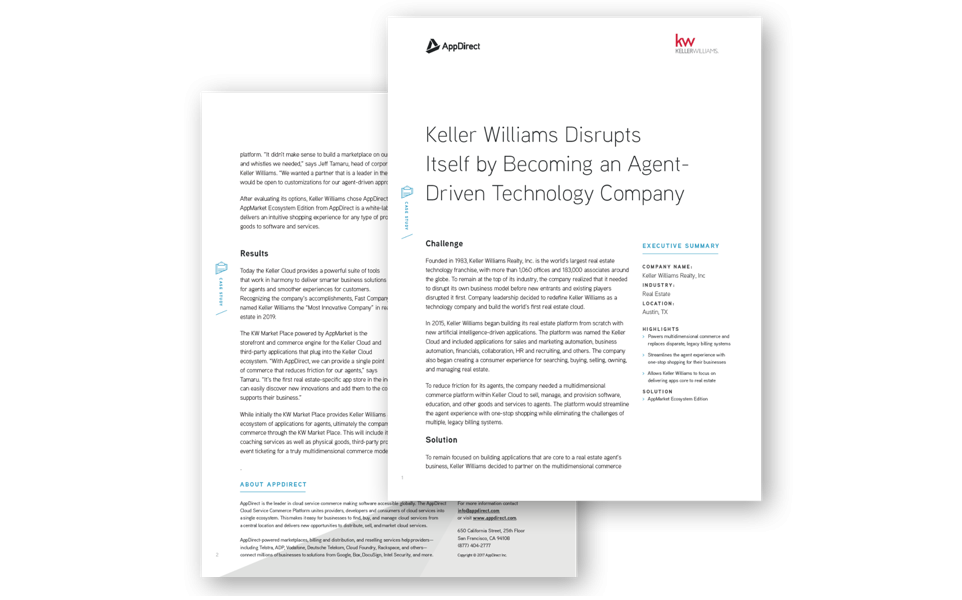 Keller Williams turns to AppDirect to launch its marketplace